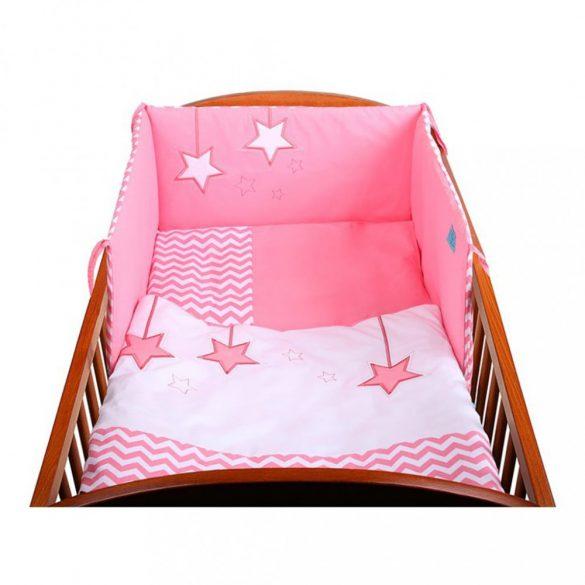 5-részes ágyneműhuzat Belisima Csillag  90/120 rózsaszín