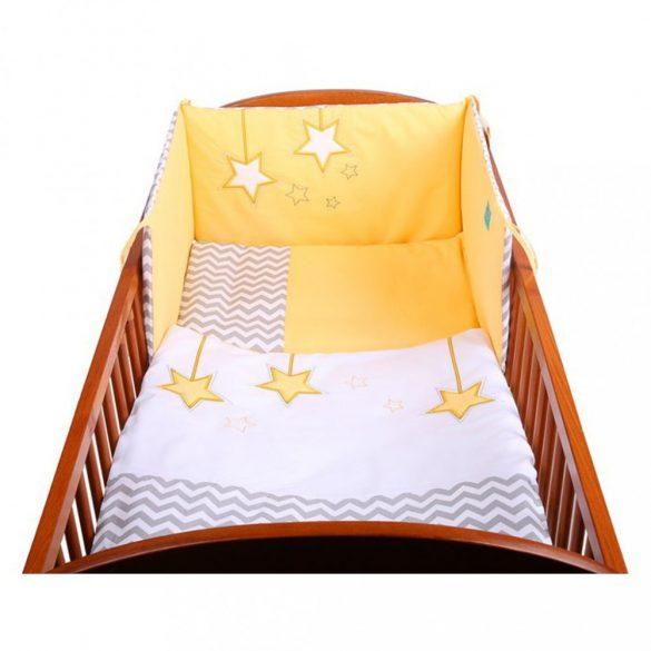 6-részes ágyneműhuzat Belisima Csillag 90/120 sárga
