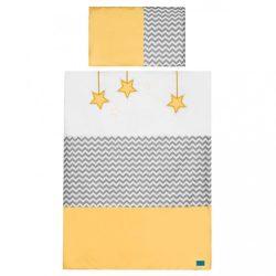 2-részes ágyneműhuzat Belisima Csillag 100x135 sárga