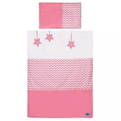 5-részes ágyneműhuzat Belisima Csillag 100x135 rózsaszín