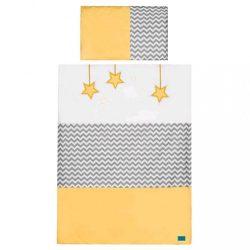 6-részes ágyneműhuzat Belisima Csillag 100x135 sárga