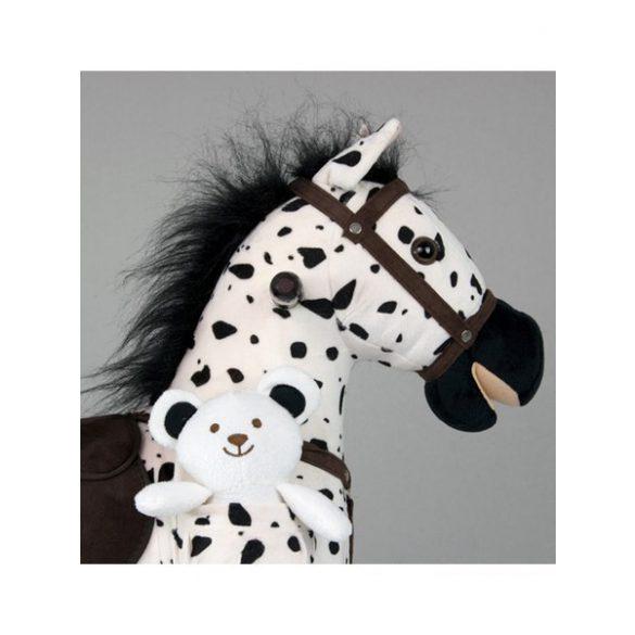 Hintaló dallammal Milly Mally Mustang fehér - fekete pöttyös
