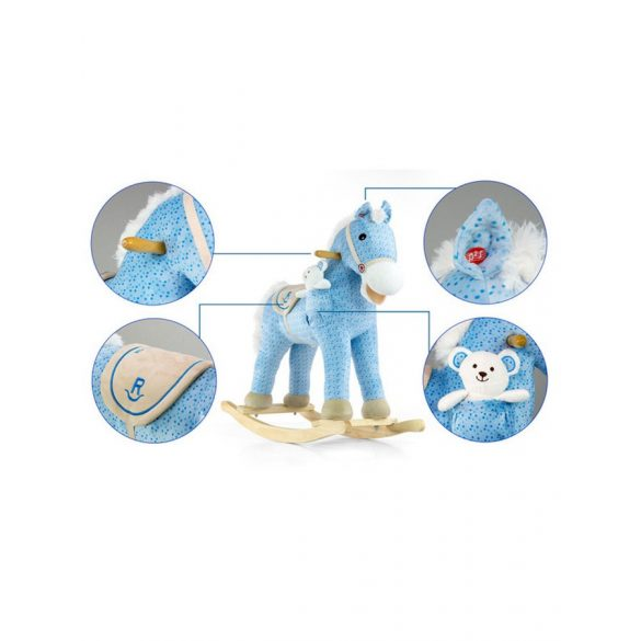 Hintaló dallammal Milly Mally Pony kék