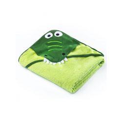 Gyermek törölköző Sensillo Friends 100x100cm green crocodile