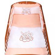 3-részes ágyneműhuzat New Baby Bunnies 100x135 narancssárga