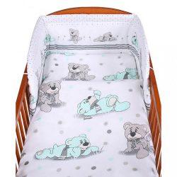 2-részes ágyneműhuzat New Baby 90/120 cm szürke maci