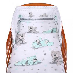 2-részes ágyneműhuzat New Baby 100/135 cm szürke maci