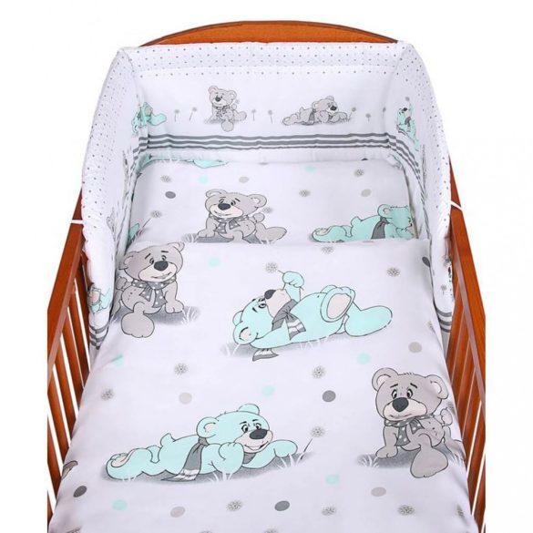 3-részes ágyneműhuzat New Baby 100/135 cm szürke maci