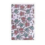 Vízálló froté alátét Akuku  70x50 - fehér rózsaszín bagollyal