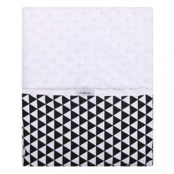 Gyerek kétoldalas pléd Minky Womar 75x100  fekete - fehér