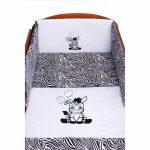 5 részes ágyneműhuzat New Baby Zebra 100/135 ehér fekete