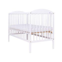 Gyermek kiságy Drewex Kuba 2 leengedhető oldalráccsal fehér