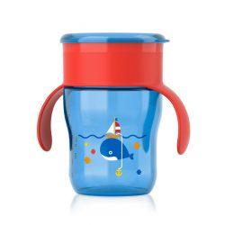 Bájos itató pohár Avent 360°- 260 ml kék