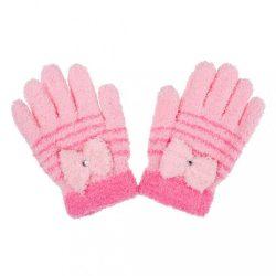 Gyermek téli frottír kesztyű New Baby világos rózsaszín