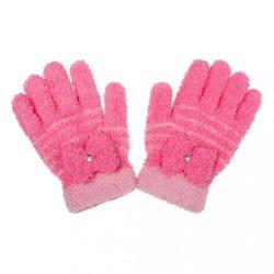 Gyermek téli frottír kesztyű New Baby rózsaszín