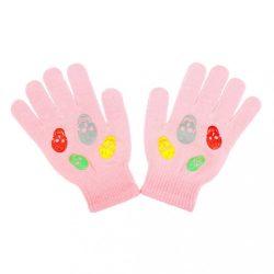 Gyermek téli kesztyű New Baby Girl világos rózsaszín