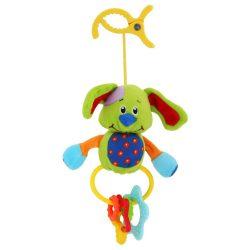 Gyermek plüss játék csörgővel Baby Mix kutyus