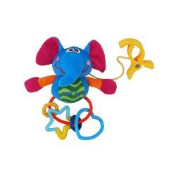 Plüss játék csörgővel Baby Mix elefánt