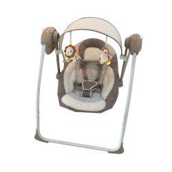 Ringatható, szabályozható pihenőszék tetővel és játékokkal Baby Mix barna