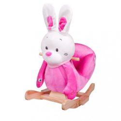 Hintázó játék dallammal PlayTo nyuszi rózsaszín