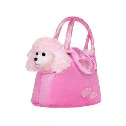 Gyermek plüss játék PlayTo kutyus táskába rózsaszín