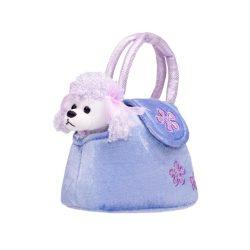 Gyermek plüss játék PlayTo kutyus táskába lila