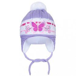 Téli gyermek sapka New Baby Pillangó lila