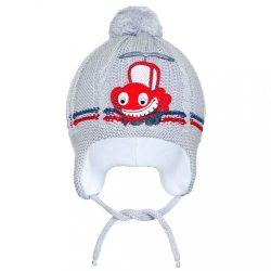 Téli gyermek sapka New Baby autó szürke