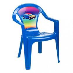 Gyerek kerti bútor- műanyag szék kék