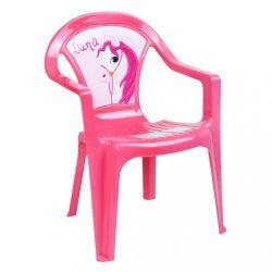 Gyerek kerti bútor- műanyag szék rózsaszín