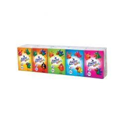 Papír zsebkendő Linteo Kids mini 10x10 darab fehér 3- rétegű