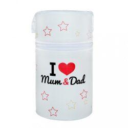 Hőtároló doboz Mini New Baby I love Mum and Dad fehér
