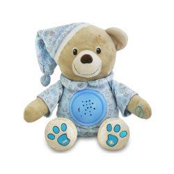 Plüss szundibarát maci projektorral Baby Mix kék