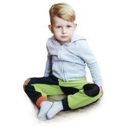 Gyermek fleec nadrág VG  lime - antracit