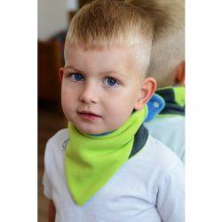 Gyerek kétoldalas fleec nyakkendő VG kék-lime
