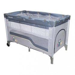 Łóżeczko turystyczne dwupoziomowe Baby Mix grey
