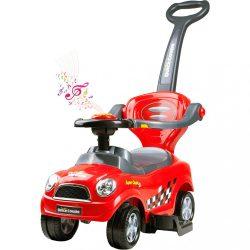 Gyermek zenélő jármű 3az1-ben Bayo Super Coupe red