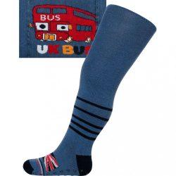 Pamut harisnyanadrág New Baby ABS-el sötét kék UK bus