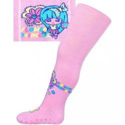 Pamut harisnyanadrág New Baby ABS-el világos rózsaszín flower princess