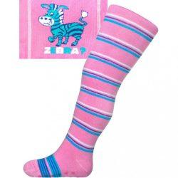 Pamut harisnyanadrág New Baby ABS-el rózsaszín zebra csíkos