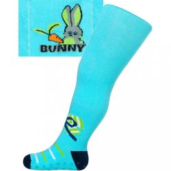 Pamut harisnyanadrág New Baby ABS-el türkiz bunny