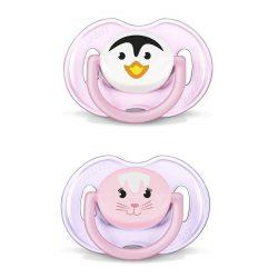 Csecsemő cumi Avent 0 - 6 hónap  - 2 darab rózsaszín