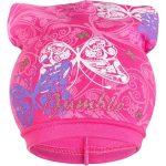 Tavaszi gyerek sapka New Baby pillangó sötét rózsaszín