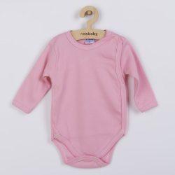 Csecsemő teljes hosszba patentos body New Baby Classic rózsaszín