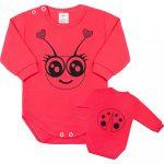 Csecsemő body hossú ujj New Baby Állat katicabogár rózsaszín
