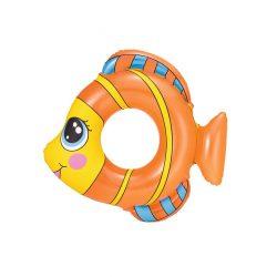 Gyermek felfújható úszógumi Bestway halalakú narancssárga