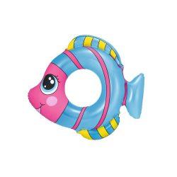 Gyermek felfújható úszógumi Bestway halalakú kék