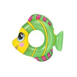 Gyermek felfújható úszógumi Bestway halalakú zöld