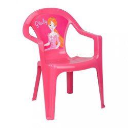 Gyerek kerti bútor- műanyag szék rózsaszín Giuly