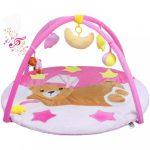Játszószőnyeg melódiával PlayTo alvó maci rózsaszín